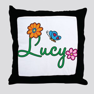 Lucy Flowers Throw Pillow