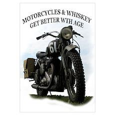 oldtimer motorcycle Poster