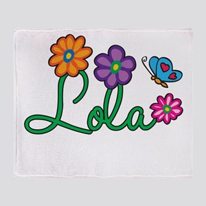 Lola Flowers Throw Blanket