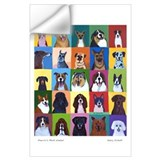 Dog art Wall Decals
