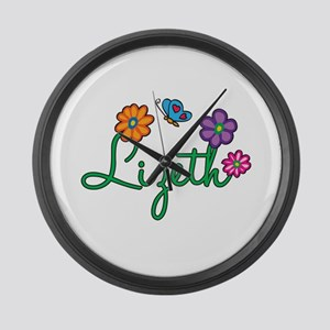 Lizeth Flowers Large Wall Clock