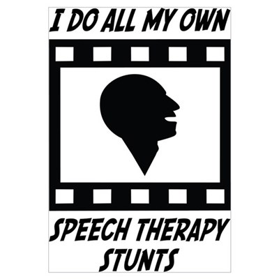 Speech Therapy Stunts Framed Print