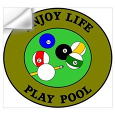 Enjoy Life Play Pool Wall Decal