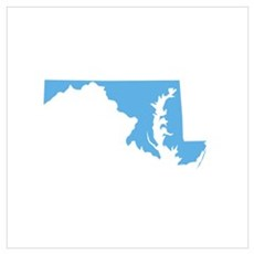 Baby Blue Maryland Poster