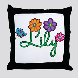Lily Flowers Throw Pillow