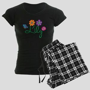 Lily Flowers Women's Dark Pajamas