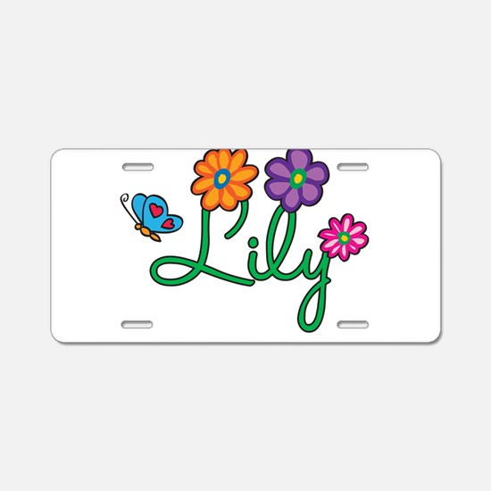 Lily Flowers Aluminum License Plate