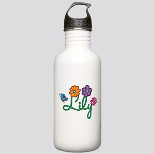 Lily Flowers Stainless Water Bottle 1.0L