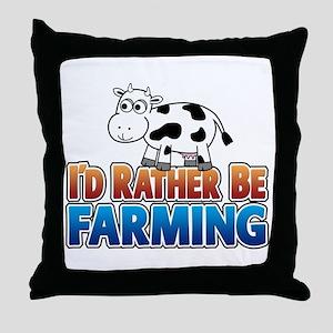 Farmville Inspired Cow Throw Pillow
