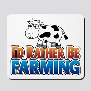 Farmville Inspired Cow Mousepad