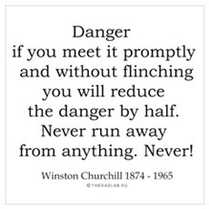 Winston Churchill 4 Poster