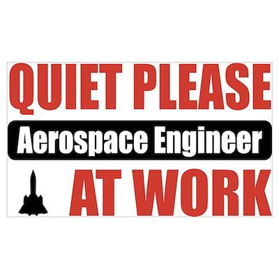 Aerospace Engineer Work Poster