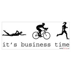 It's Business Time Triathlon Canvas Art