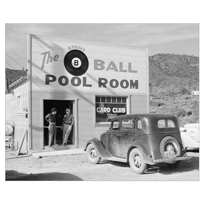 The Eight Ball Pool Room, 1940 Poster