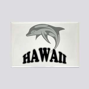 Hawaii Dolphin Souvenir Rectangle Magnet