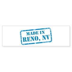 MADE IN RENO, NV Sticker (Bumper)