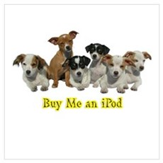 PUPPY 1160 Buy Me an iPod Framed Print