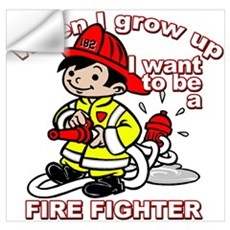 When I grow up Firefighter Wall Decal