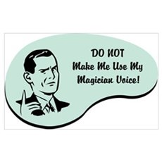 Magician Voice Poster