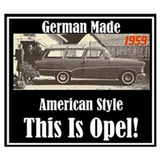 """1959 Opel Ad"" Poster"