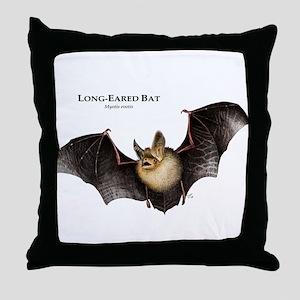 Long-Eared Bat Throw Pillow