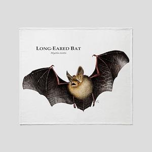 Long-Eared Bat Throw Blanket