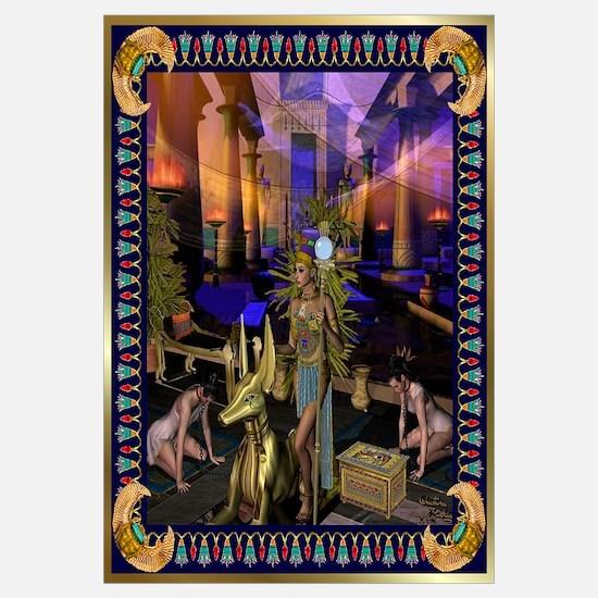 Funny Egyptian goddess Wall Art