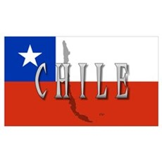 Chile Flag Extra Poster