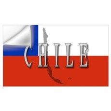 Chile Flag Extra Wall Decal