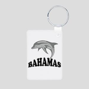 Bahamas Dolphin Souvenir Aluminum Photo Keychain