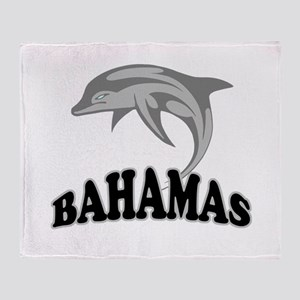 Bahamas Dolphin Souvenir Throw Blanket