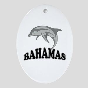 Bahamas Dolphin Souvenir Ornament (Oval)