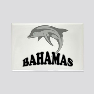 Bahamas Dolphin Souvenir Rectangle Magnet