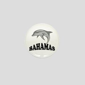 Bahamas Dolphin Souvenir Mini Button