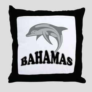 Bahamas Dolphin Souvenir Throw Pillow