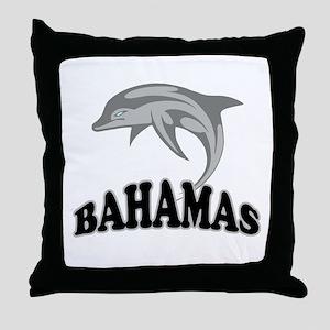 Bahamas Dolphin Souvenir Throw Pillow