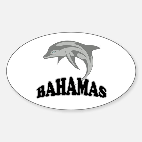 Bahamas Dolphin Souvenir Sticker (Oval)