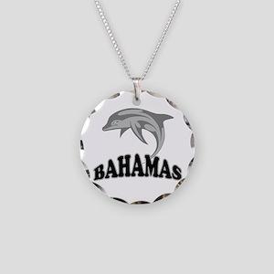 Bahamas Dolphin Souvenir Necklace Circle Charm