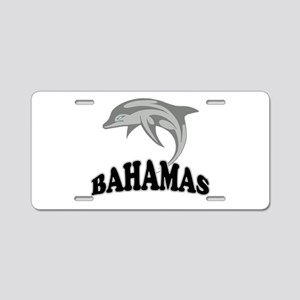 Bahamas Dolphin Souvenir Aluminum License Plate