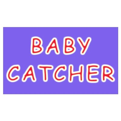 Baby catcher midwife gift Framed Print