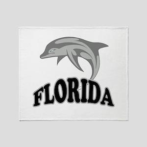 Florida Dolphin Souvenir Throw Blanket