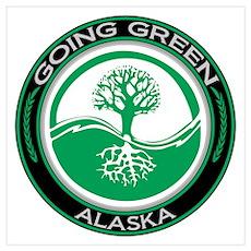 Going Green Alaska (Tree) Poster