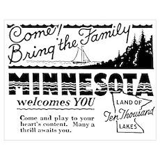 Vintage MINNESOTA Poster