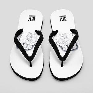 MV Logo Flip Flops