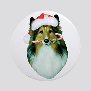 Shetland Sheepdog Christmas Ornament (Round)