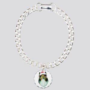 Shetland Sheepdog Christmas Charm Bracelet