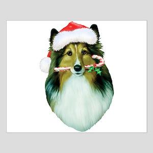 Shetland Sheepdog Christmas Small Poster