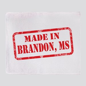 MADE IN BRANDON, MS Throw Blanket
