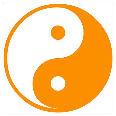 Orange Yin-Yang Poster
