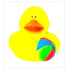 Ball Player Rubber Duck Poster